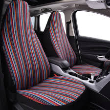 Car Pass Car Seat Cover Folk Custom Pattern Universal Fit For Most ...