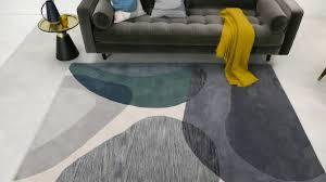 holt teppich 160 x 230 cm grau und blaugrün