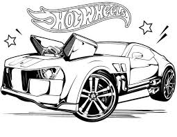 Hot Wheels Coloring Page For Kids