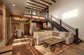 Lucky 4 Ranch Rustic Living Room By Uptic Studios