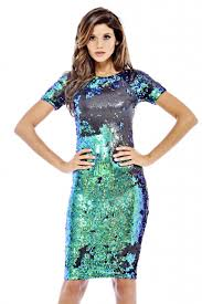 ax paris women u0027s iridescent sequin 3 4 sleeve midi dress