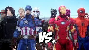 Team Captain America Vs Iron Man