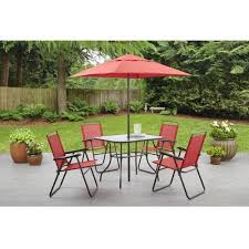 mainstays searcy creek 6 piece folding outdoor dining set