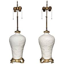 Marbro Lamp Company Los Angeles by Pair Of Chinese Blanc De Chine French Louis Xv Ormolu Mounted