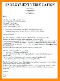 Employment Verification Letter Sample Employment Verification Letter