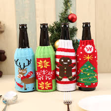 Wine Kitchen Decor Sets by Wine Bottle Decor Set Santa Claus Snowman Deer Bottle Cover