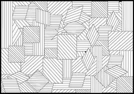 Free Geometric Chaos Coloring Page