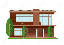 100 Image Of Modern House A Vector Illustration Family Home Facade Apartment