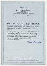 Stamp Auction Baden Marken Und Briefe Auction 40 Germany