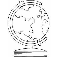 Globe Coloring Pages 4
