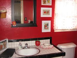 Chandelier Over Bathroom Sink by Awesome Bright Red Vintage Vanity Painted With White Chandelier