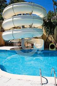 Swimming Pool With Water Slide Something For The Backyard More