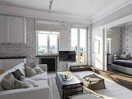 Ways To Make White Brick Wall More Attractive Aida Homes Rustic Living Room With Vintage And Wood Floor