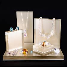 Acrylic Jewelry Set Display Shelf Necklace Ring Earing Stand Watch Holder Organizer Jewellery Exhibition Shop Window Showcase In Packaging