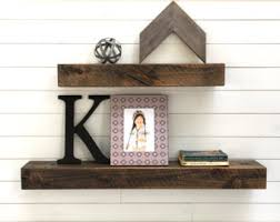 floating shelves set of two rustic floating shelves deep