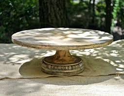 Rustic Cake Stand Luxury Large For Wedding Inch Round Old Pine