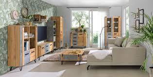 wohnzimmer komplett set c atule 8 teilig farbe eiche grau