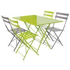 table de jardin metal rectangulaire pliante jsscene des