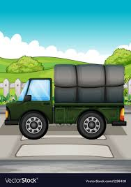 A Big Green Truck Royalty Free Vector Image - VectorStock