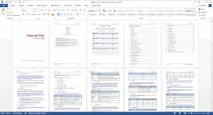 Capacity Plan Template Red Theme