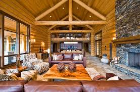 Inspiration For A Rustic Open Concept Living Room Remodel With A