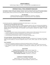 Resume Format For Purchase Manager Procurement Category Example