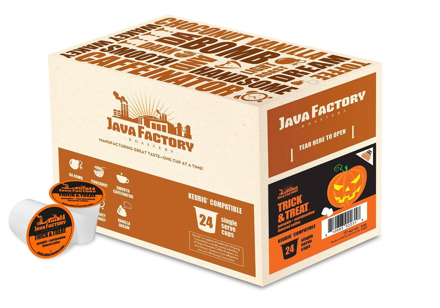 Java Factory Trick and Treat Single-Cup Coffee for Keurig K-Cup Brewers, 24 Count