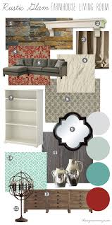Rustic Glam Living Room Mood Board Farmhouse Our Diy House