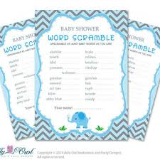 Boy Elephant Word Scramble Game Guess Words Unscramble The Shower DIY