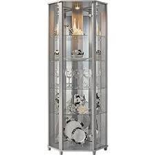 corner glass display cabinet light oak effect stuff to buy