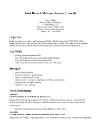 Banking Executive Sample Resume Application Letter Branch Manager And Bank