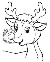 Awesome Red Nose Of Rudolph The Reindeer Coloring Page
