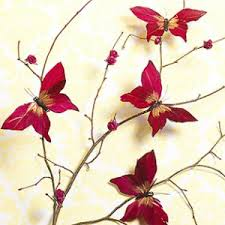 Red Tree Butterfly Wall Decor