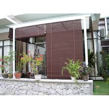 bamboo window shades protect your entertainment area with outdoor
