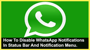 How To Disable Whatsapp Notification In Status Bar - YouTube How To Show Androids Battery Percentage In The Menu Bar Use Ios Settings On Iphone And Ipad Guide For 11 Quicktype Keyboard Imore Android Apps Make Nofications More Interesting Give Your Status Stock Material Design Icons 7 Review Type Trademark Copyright Symbols Mimic Iphones The Guidelines Ivo Mynttinen User Interface Designer 25 Honor 5x Tips Tricks Symbols Top Bar Youtube