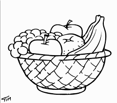 Picture Of Fruit Basket For Coloring Fruits Page Pages New Year Color