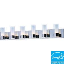 Led Bathroom Vanity Lights Home Depot by Maxim Lighting Silo 6 Light Polished Chrome Bath Vanity Light