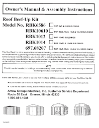 Arrow Shed Assembly Instructions by Arrow Shed Roof Strengthening Kit Except Swing Doors Walmart