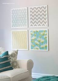 Fabric Wall Art DIY With Coordinating Patterns Fabulous For A Spring Home Decor Update
