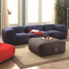 coaster lazy life bean bag sectional group value city furniture