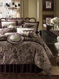 Fashionable Queen Size Bed With Rustic Design And Dark Purple