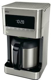 BrewSense 10 Cup Drip Coffee Maker With Thermal Carafe Stainless Steel