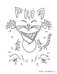 FUNNY CAT Dot To Game Printable Connect The Dots Color Online This And Send It
