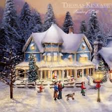 Thomas Kinkade Christmas Tree Cottage by Thomas Kinkades Collectible Village Christmas Collection