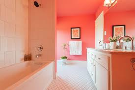 Coral Color Decorating Ideas by Superb Coral Paint Colors Decorating Ideas For Bathroom Modern