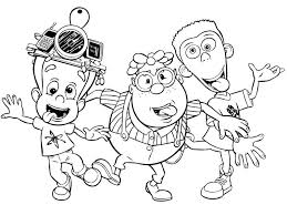 Jimmy Neutron And His Best Friends Coloring Pages