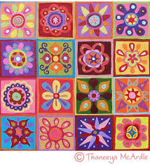 Abstract Art Flower Painting