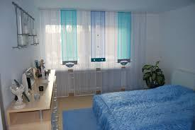 helle schlafzimmer schiebegardine in blau und türkis http