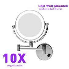 excelvan 8 side led lighted wall mount makeup 10x