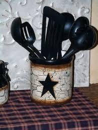primitive crackle star salt and pepper shaker set country